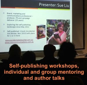 Sue Liu presents workshops for writers and self-publishers
