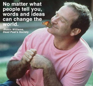 VALE Robin Williams. There is a very small fence between madness and creative genius. To give and expend of your energy can, and sometimes does lead to places that are dark and seemingly fathomless. Thank you for your gifts.