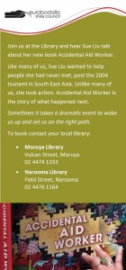 Wednesday 19 October -1pm at Moryua Library