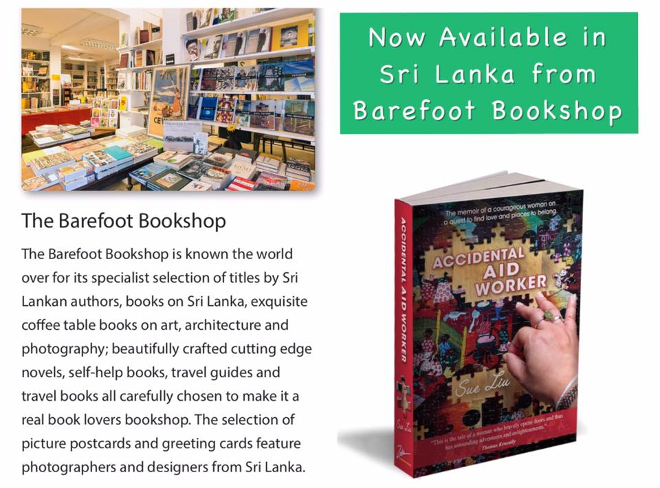 Accidental Aid Worker now available at Barefoot Ceylon in Sri Lanka