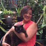 Sue Liu and Moet the Brown Burmese